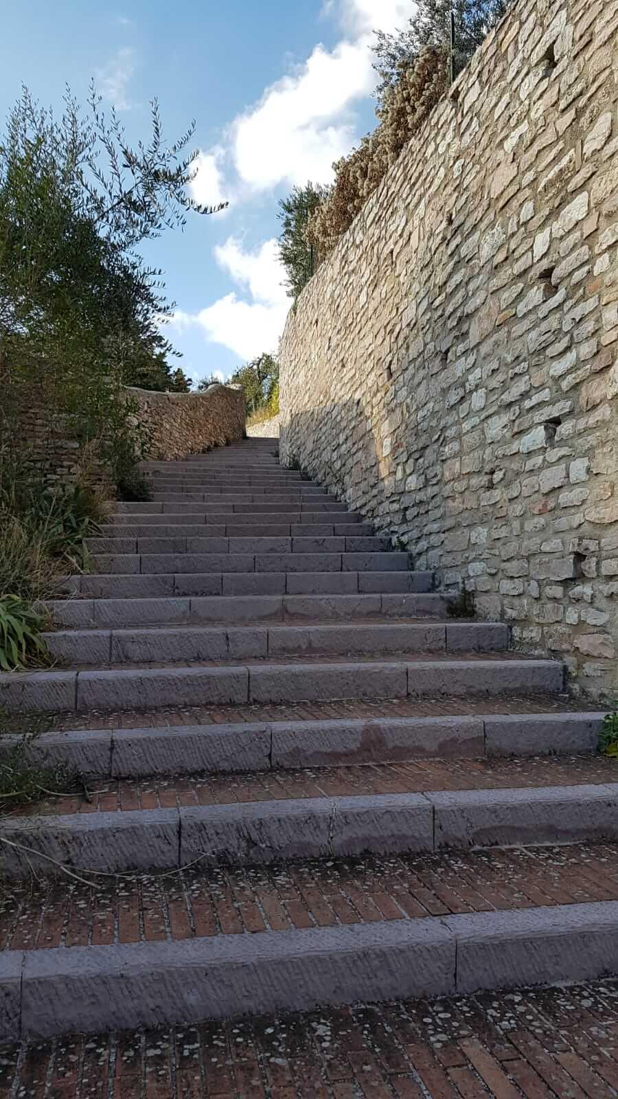 Assisi : scalinata