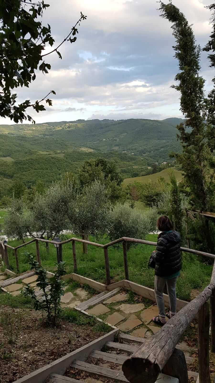 Assisi : veduta da un arco